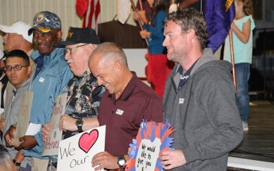 picture of Veterans being honored during Primary's Veterans Day Ceremony