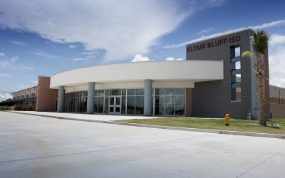 image FBISD Natatorium view of outside of facility