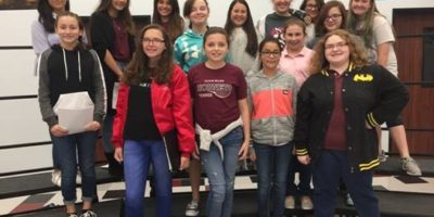 image Flour Bluff Junior High School All-Region Choir Students