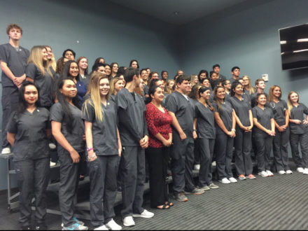 2018 Health Science Program pinning ceremony recpients