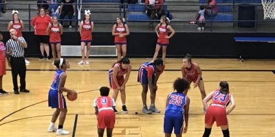 Senior Hayle Campbell attempting to shoot a free throw at the All-Star game on July 11.
