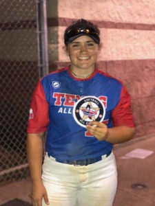 Senior Madison Hale smiles after All-Star game on July 11.