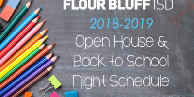 FBISD 2018-2019 Open House Back to School Night Schedule graphic