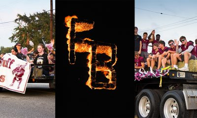Collage of homecoming pictures and burning of FB