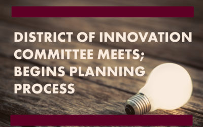 graphic with light bulb for District of Innovation Committee Meeting