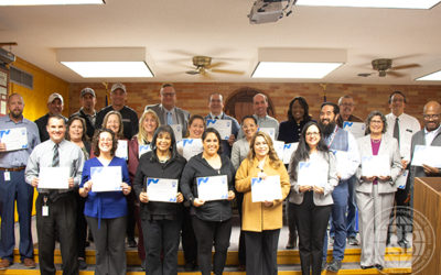 2019-2020 H.O.S.T.S Mentors recognized during January Board Meeting