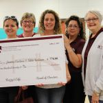 image Flour Bluff Foundation for Educational Excellence present a grant award to Junior High special education teachers Joanna Cardona and Nikki Redman