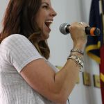 ECC Teacher Jennifer Sherard competes in Grito shouting contest