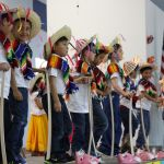 Kindergarten students perform traditional Mexican dances during Cinco de Mayo celebration
