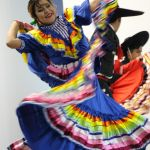 Amy Sanchez from Ballet Illusion performs for ECC students during Cinco de Mayo celebration