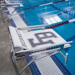 image Natatorium pool area diving platform