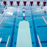 image Flour Bluff ISD Natatorium pool area 1 meter diving board