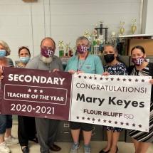 Flour Bluff ISD 2021 Secondary Teacher of the Year Mary Keyes