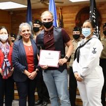 Navy Enlistee Jacob Roach